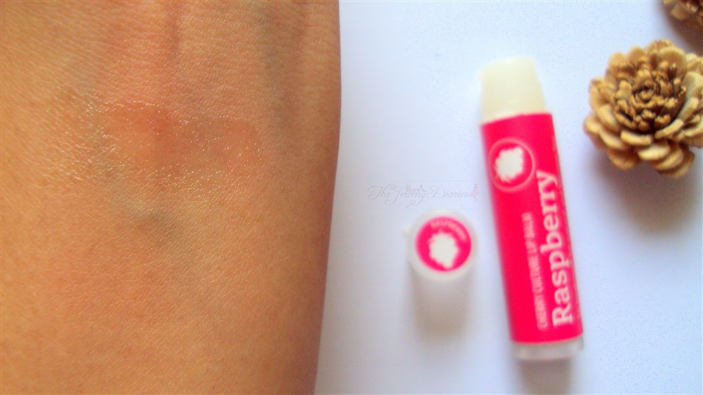 Cherry Culture lip balm raspberry swatch
