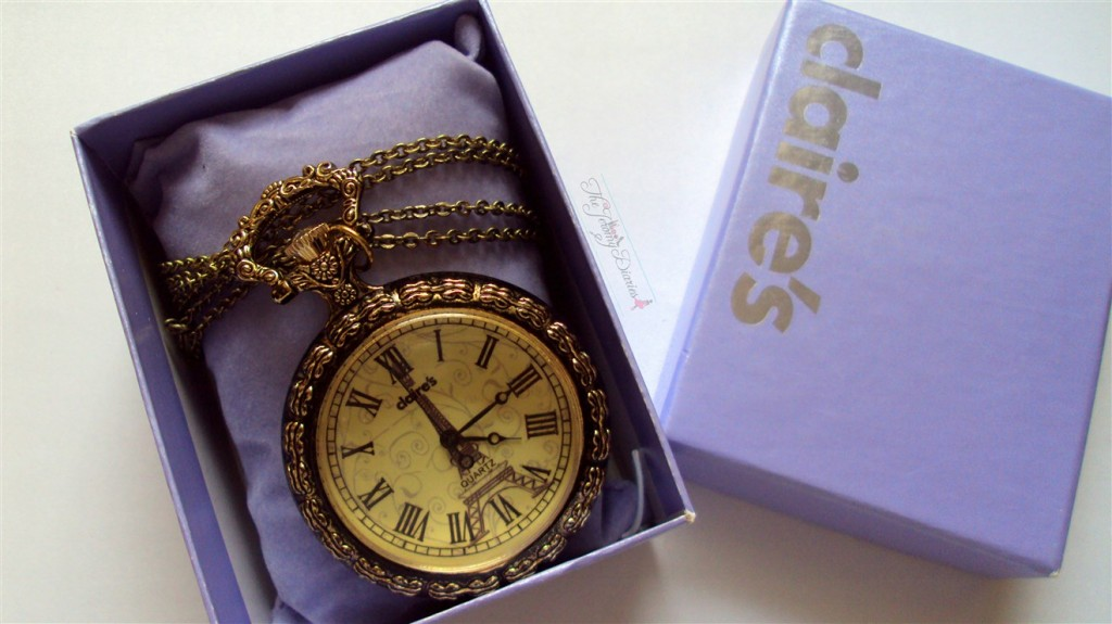 Claire's pocket watch necklace