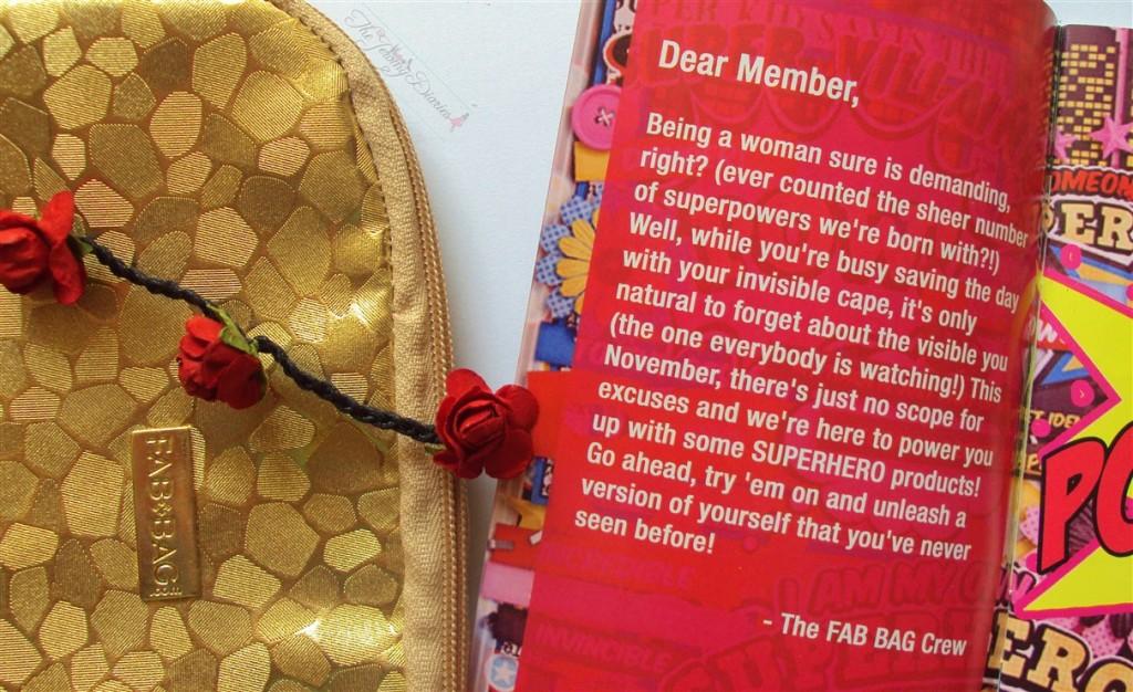 Fab Bag November 2014 Member info