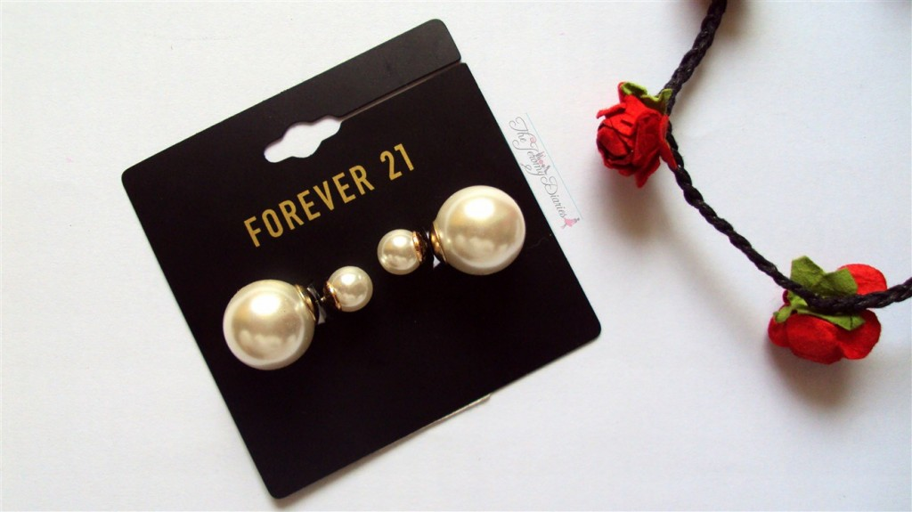 Forever21 Pearl earrings accessories haul