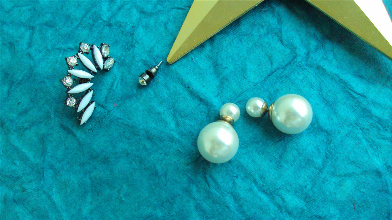 earcuffs pearl earrings accessories ladies