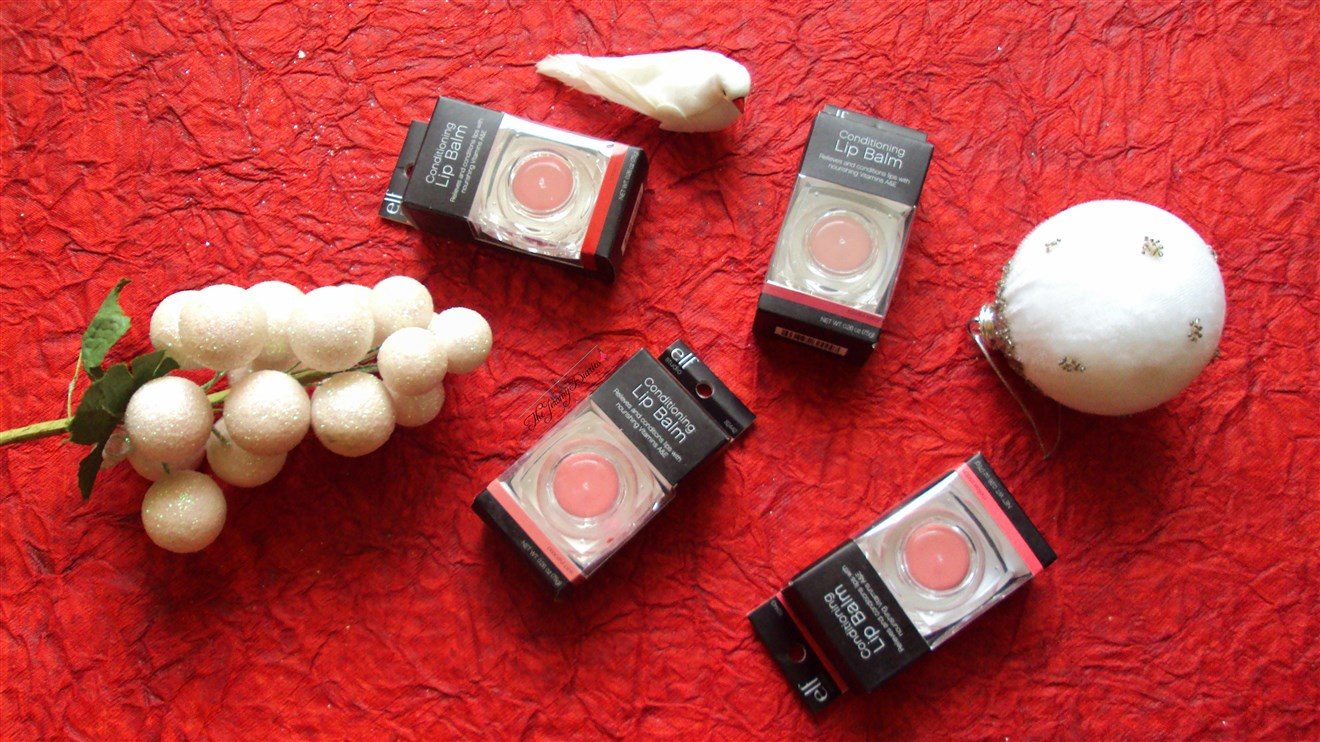 elf studio conditioning lip balm spf 15 in peaceful pink,mellow melon,romantic rouge ans blissful berry