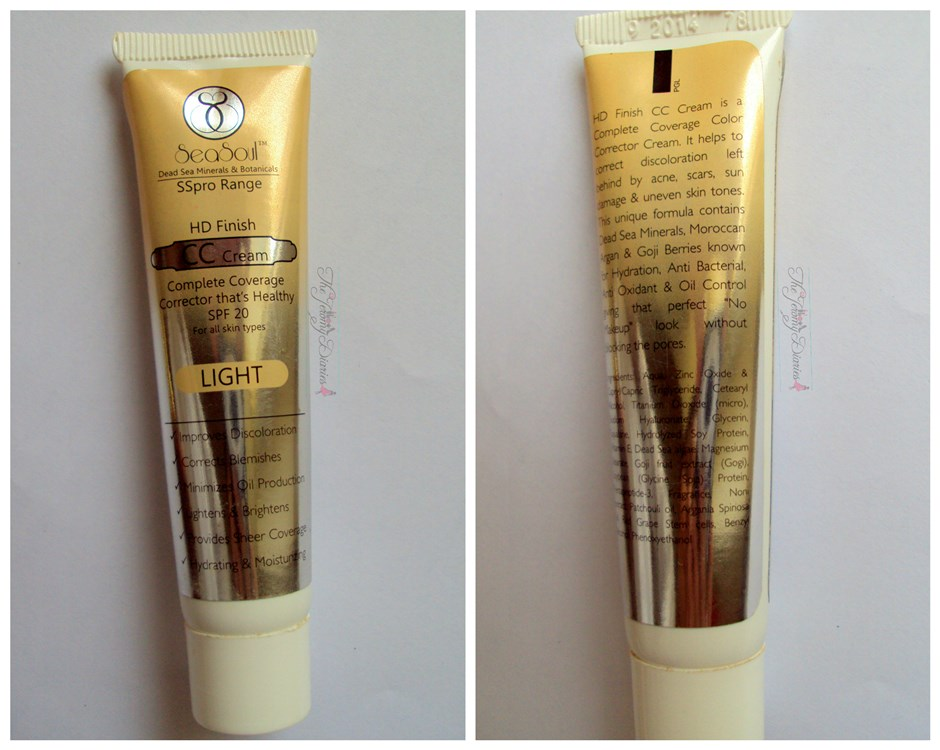 seasoul hd finish cc cream tube packaging