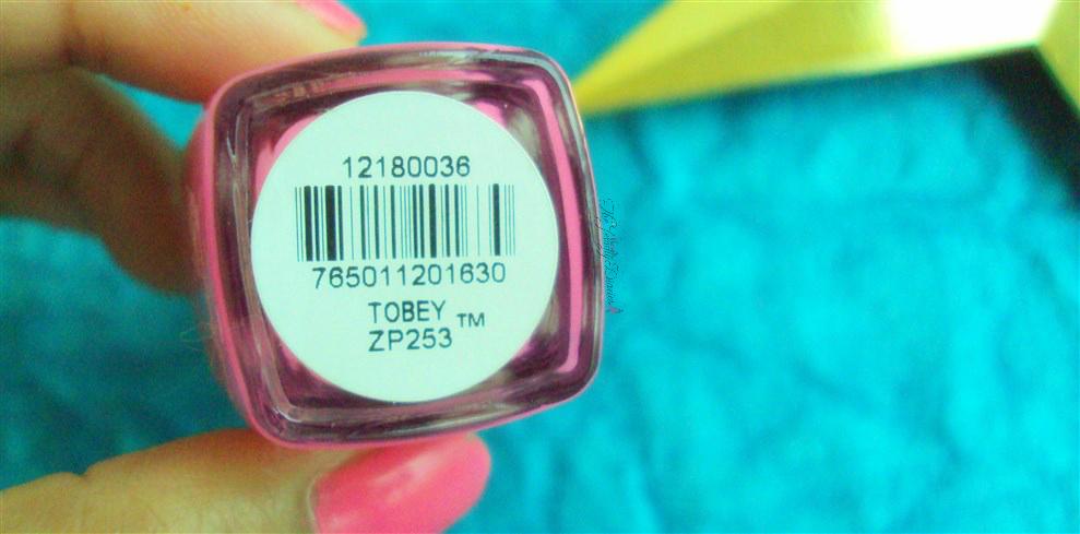 zoya nail lacquer tobey pink nail paint