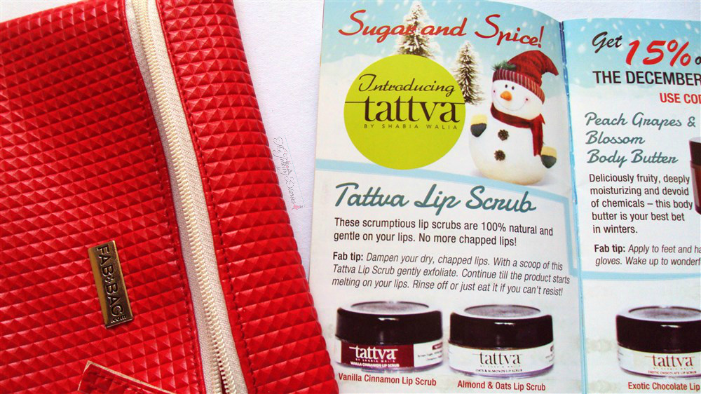 fab bag tattva cinnamon lip scrubs fab bag december