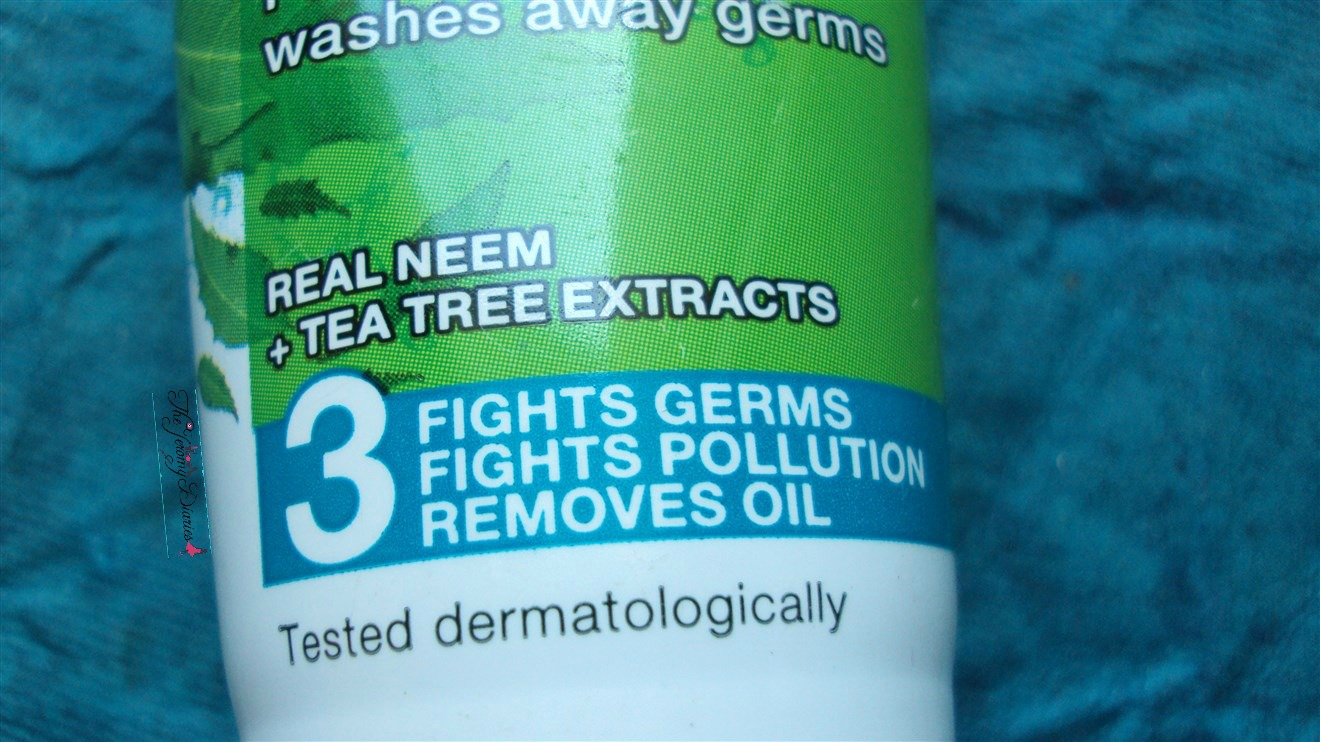garnier oil free neem face wash