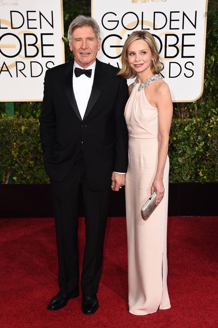 harrison ford and calista flockhart golden globes 2015