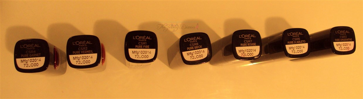loreal go rouge lipsticks
