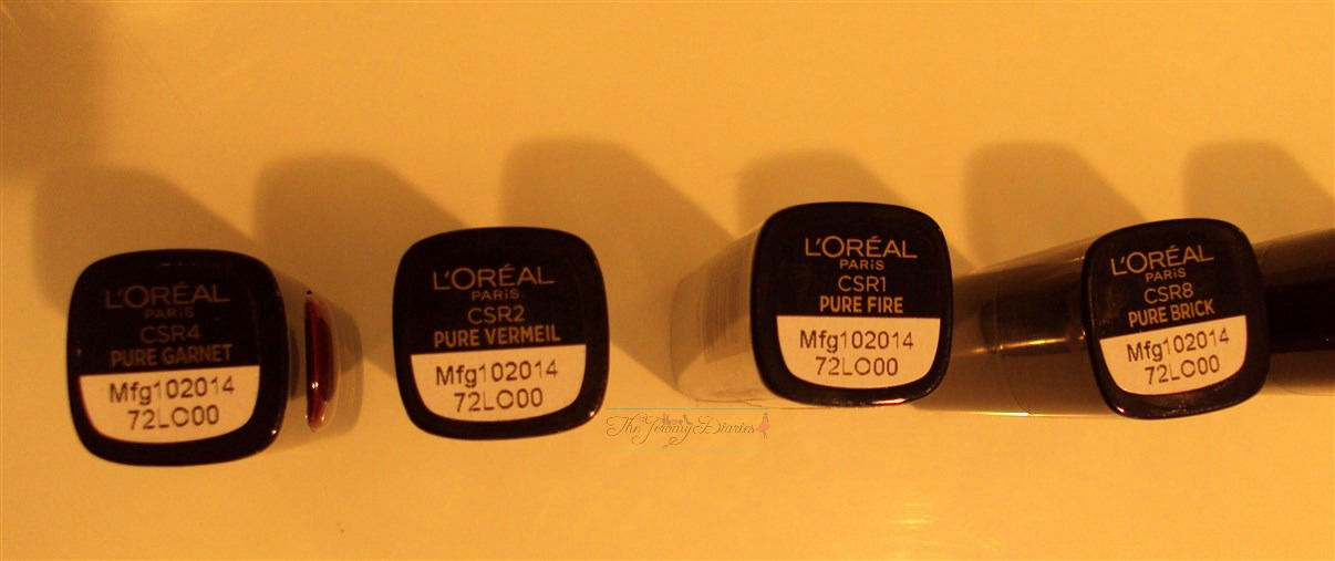 loreal pure reds lipsticks review