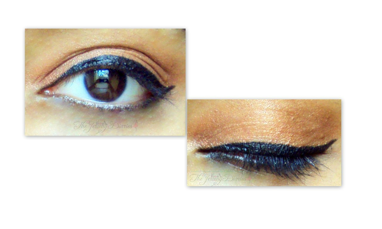 maybelline the colossal liner eotd eyes swatch