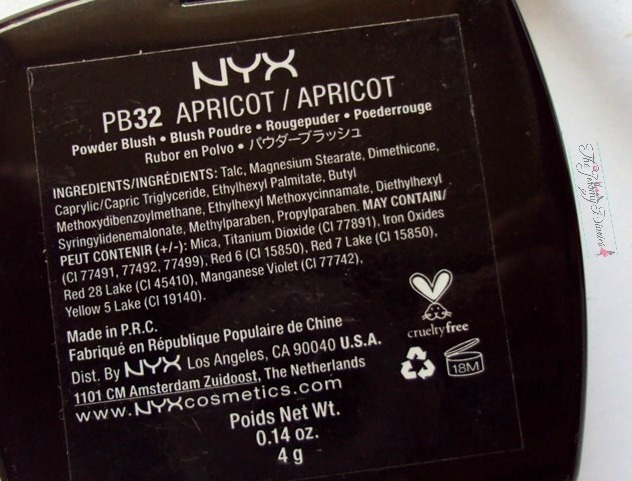 nyx powder blush apricot ingredients