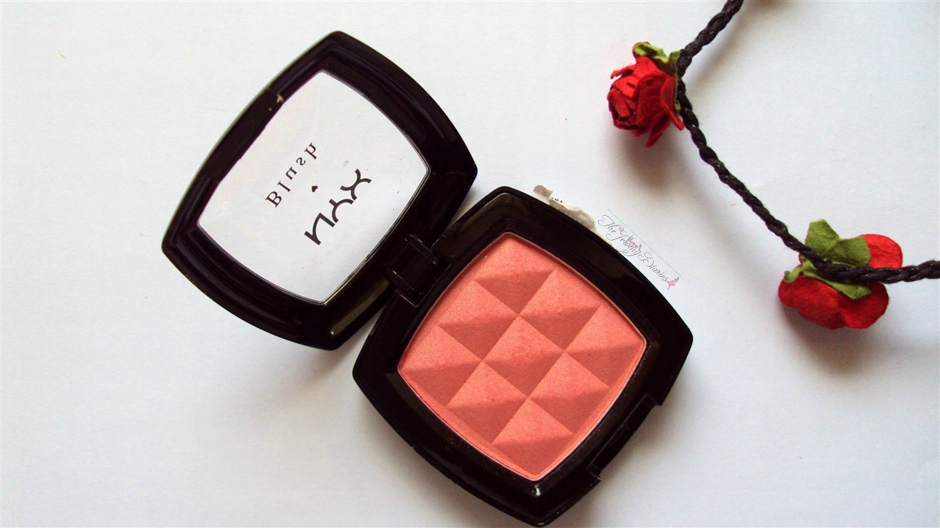 nyx powder blush apricot texture