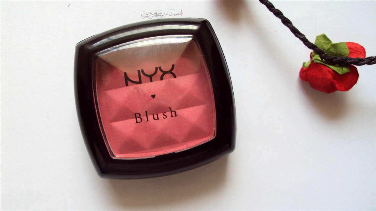 nyx powder blush peach