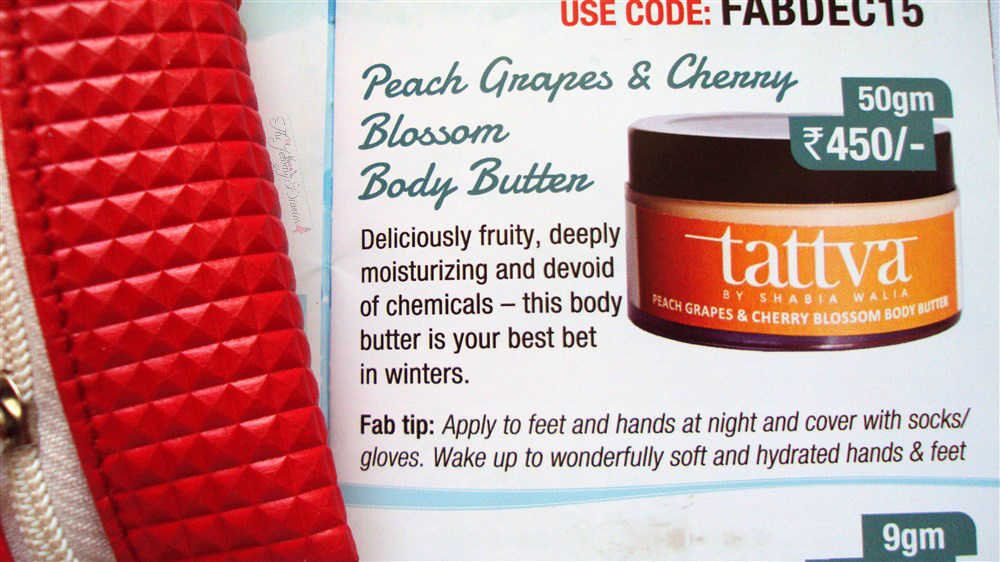tattva body butter fab bag december