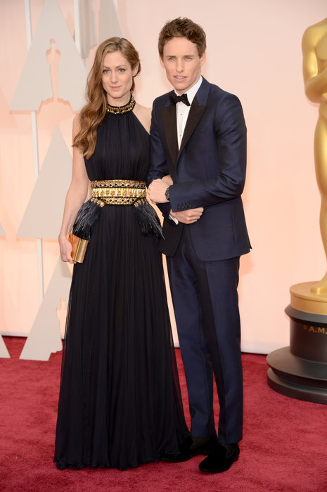 actor eddie redmayne and hannah bagshawe oscars 2015
