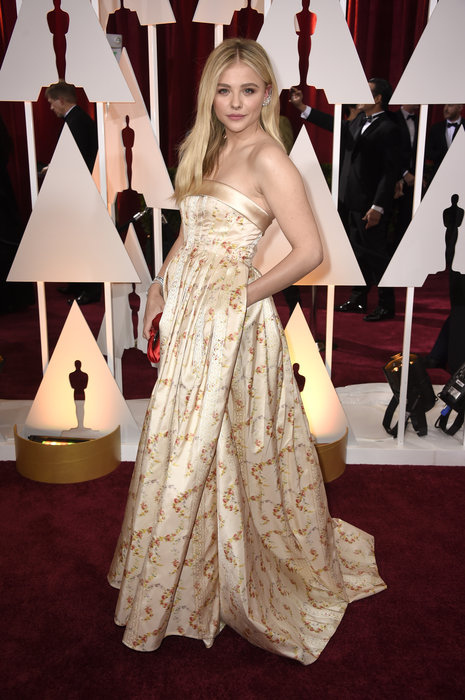 actress chloe moretz in miu miu oscars 2015