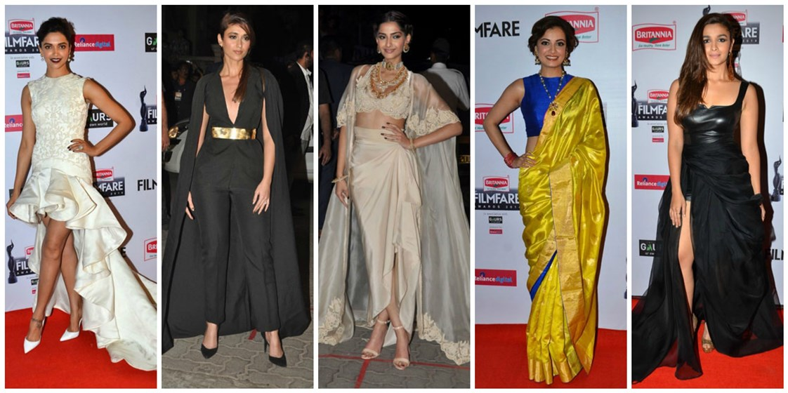 best dressed women filmfare awards 2015 red carpet