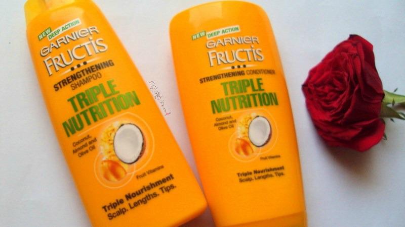 garnier fructis triple nutrition range
