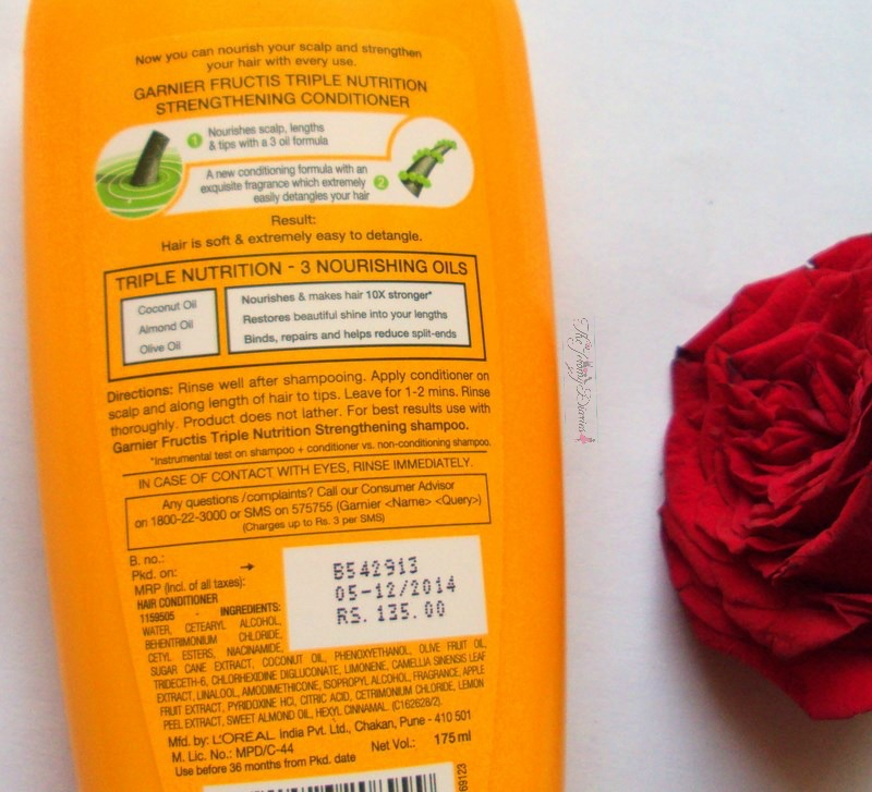 garnier fructis triple nutrition strengthening conditioner