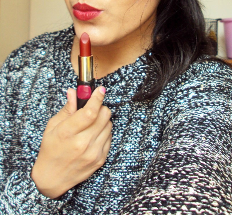 loreal collection star pure reds lipstick in pure garnet lip swatches