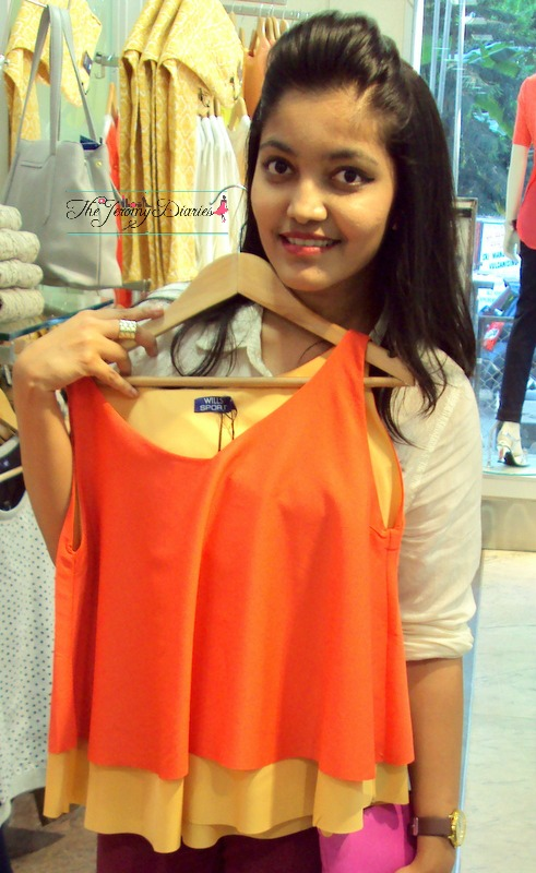 blogger princy mascarenhas at wills lifestyle spring summer 2015 launch hannah flared tops