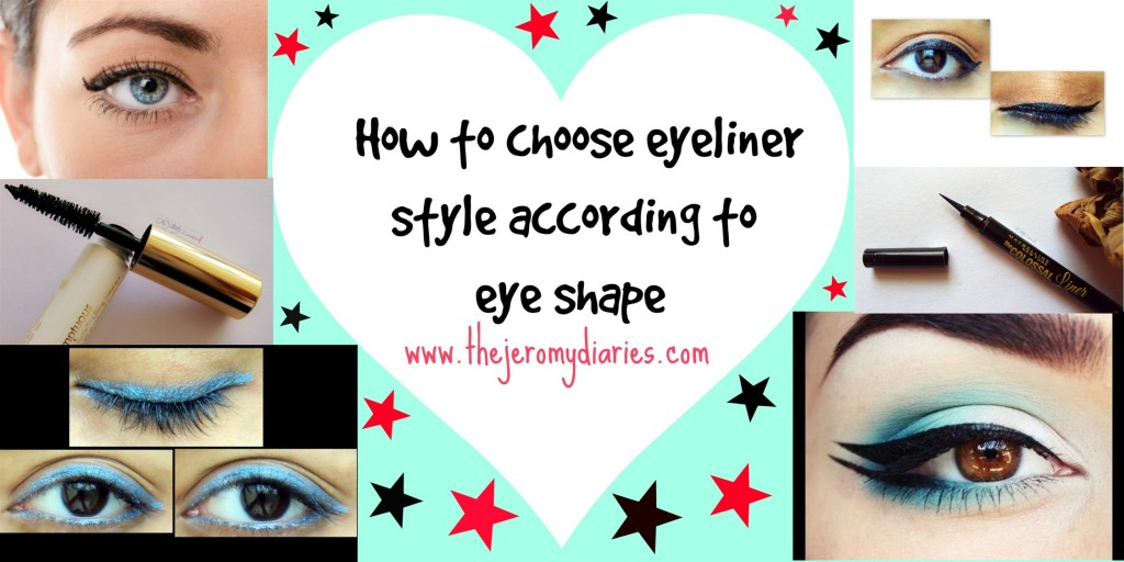 Choose an eyeliner style according to your eye shape