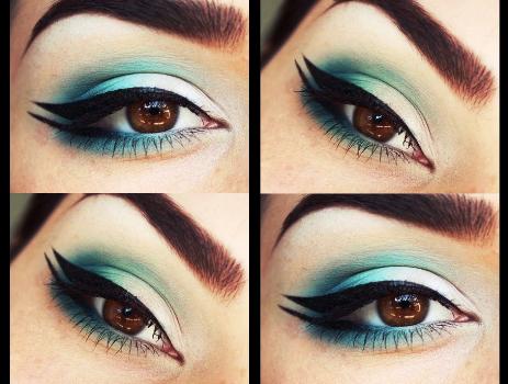 gradient-green-double-wing-eyeliner-s