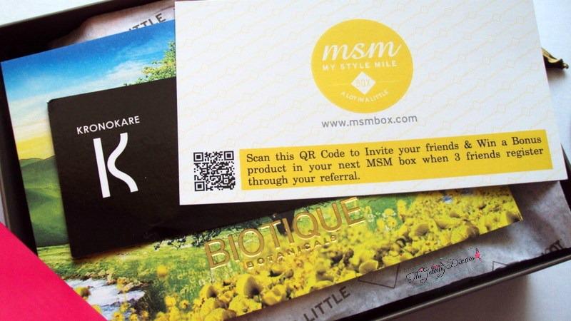msm box march subscription skincare