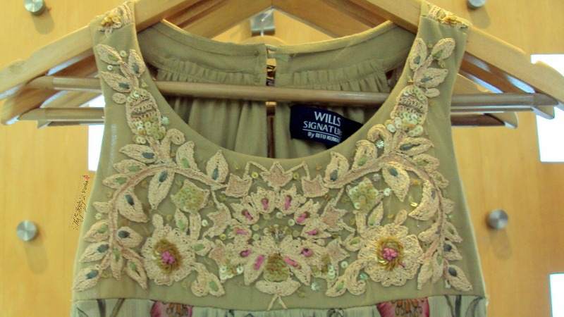 wills lifestyle embroidered dress