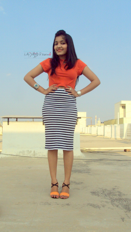 the jeromy diaries fashion diaries midi skirt crop top koovs.com clothing