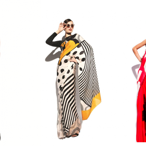 Disney Monopop by Satya Paul Iconic Minnie Monopop Saree Rs 11,995- 13,995