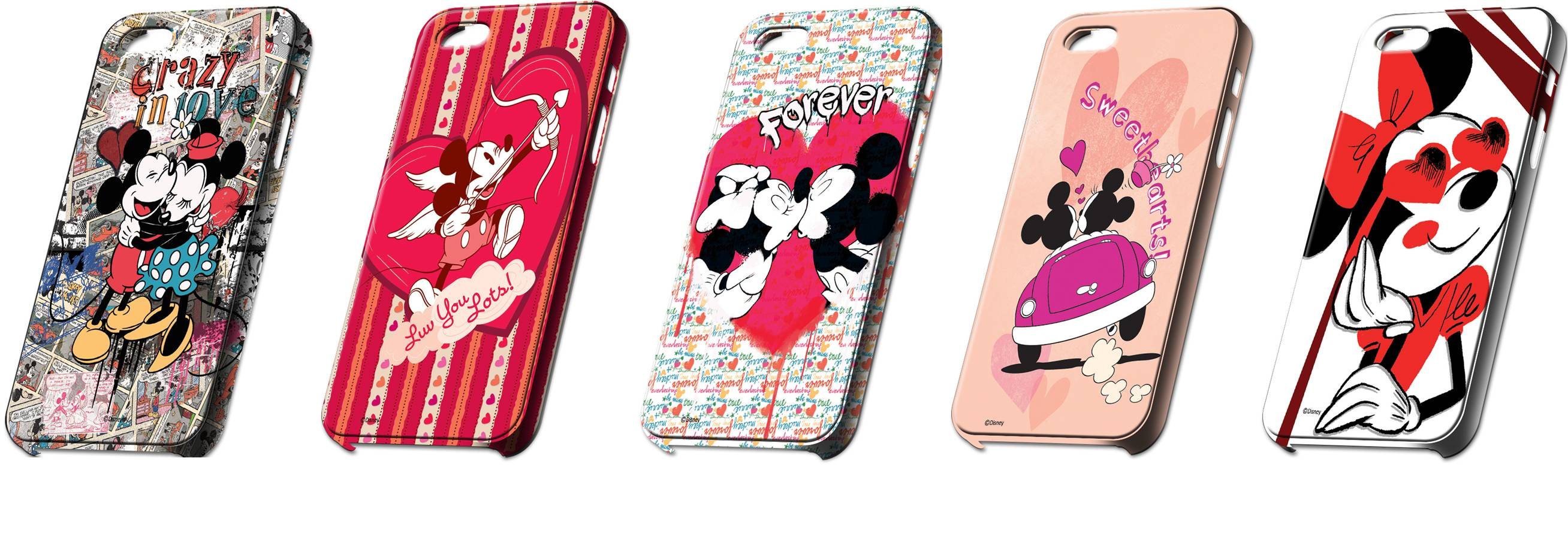 Disney's Mickey & Minnie Valentine Phone Covers on Macmerise.com Rs 550-850