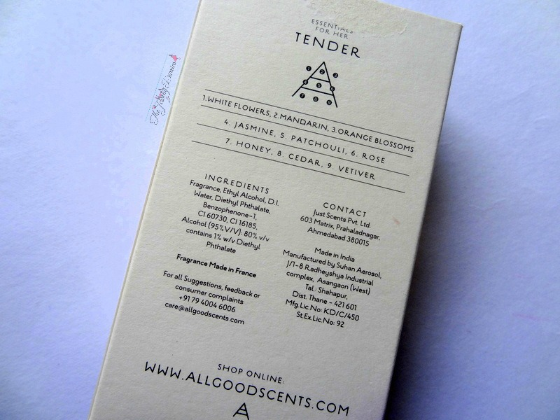all good scents tender ingredients base notes and fragrance