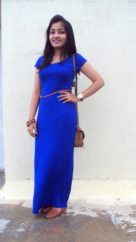 boohoo maxi dress outfit of the day