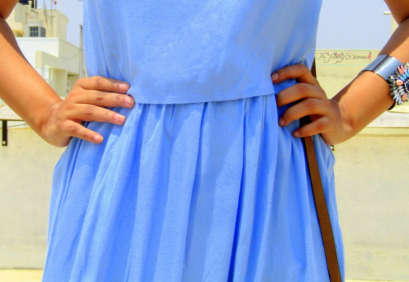 cinched waistline pastel blue dress max fashions max road to paris