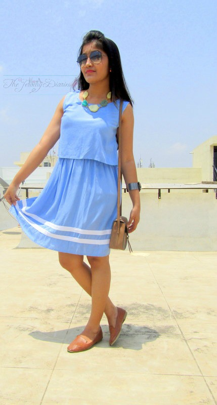 pastel blue dress comfortable dresses to wear street style