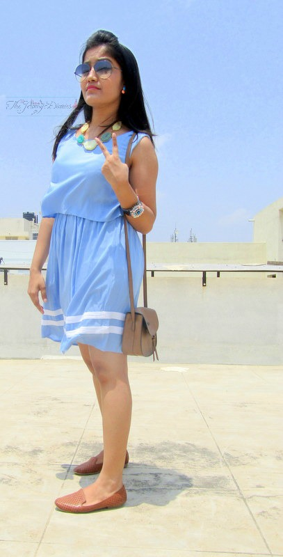 pastel blue dress max fashions india spring summer 2015 collection