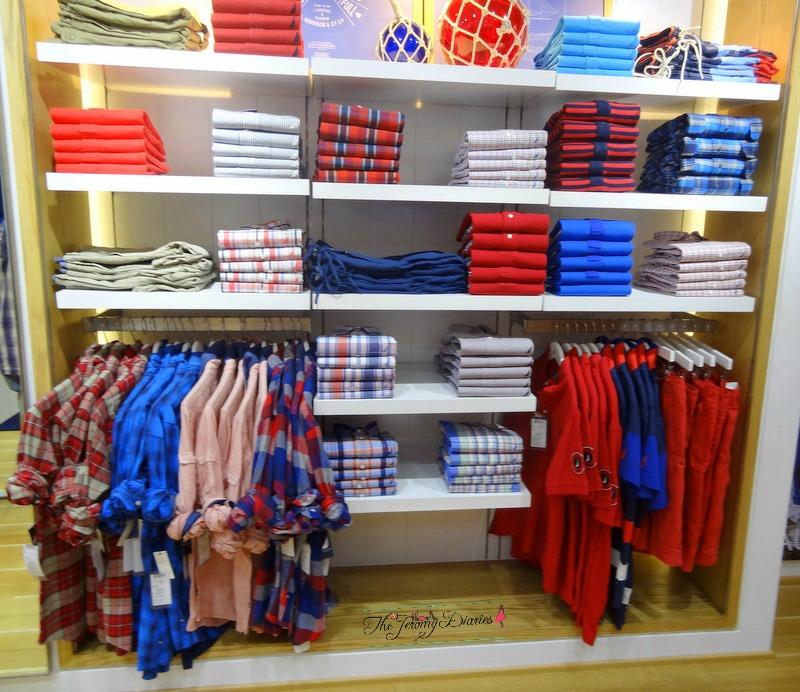 red shirts and t shirts nautica