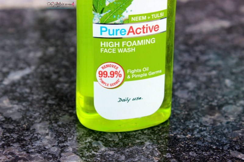 garnier pure active high foaming face wash neem and tulsi extracts