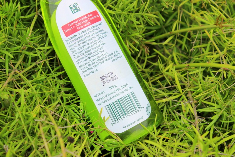 garnier pure active high foaming face wash price and review