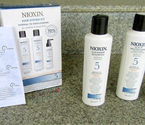 nioxin hair system 5 contents