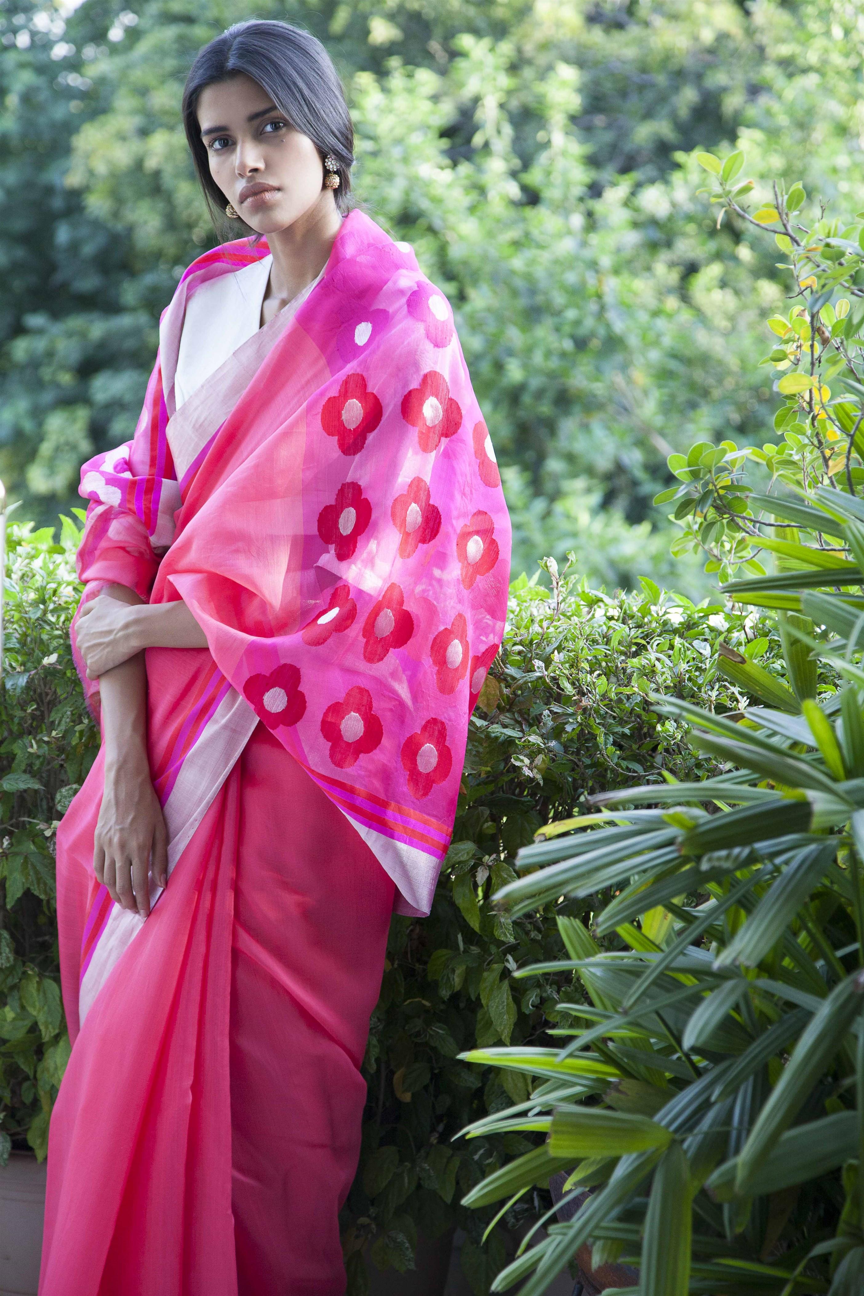 ogaan clothing online chanderi saris
