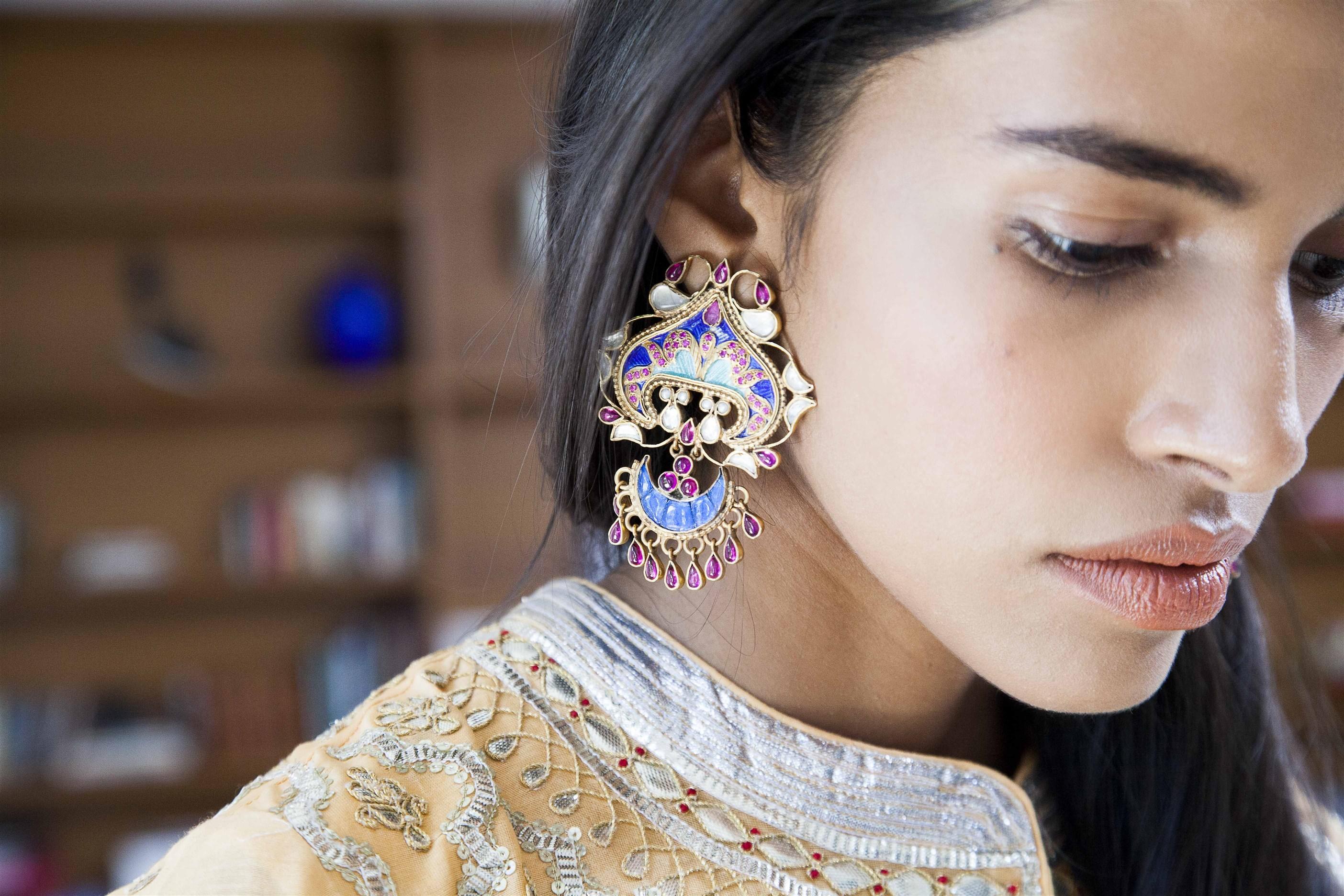 ogaan jewellery chaand bali ethnic designer jewellery