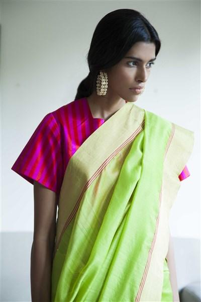 raw mango bright colour saris chanderi saris ogaan online clothing