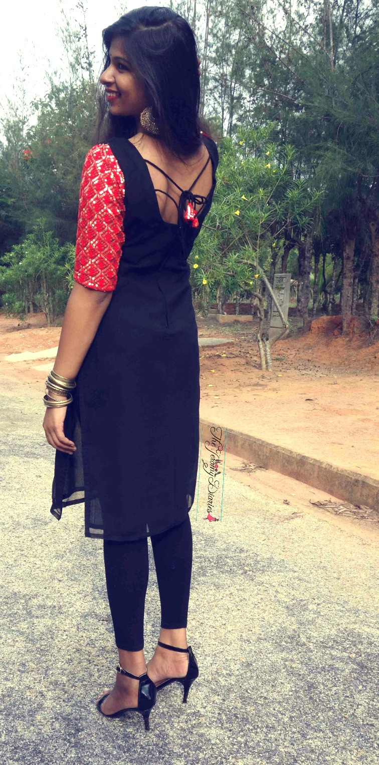ethnic kurti with leggings outfit of the day street style the jeromy diaries