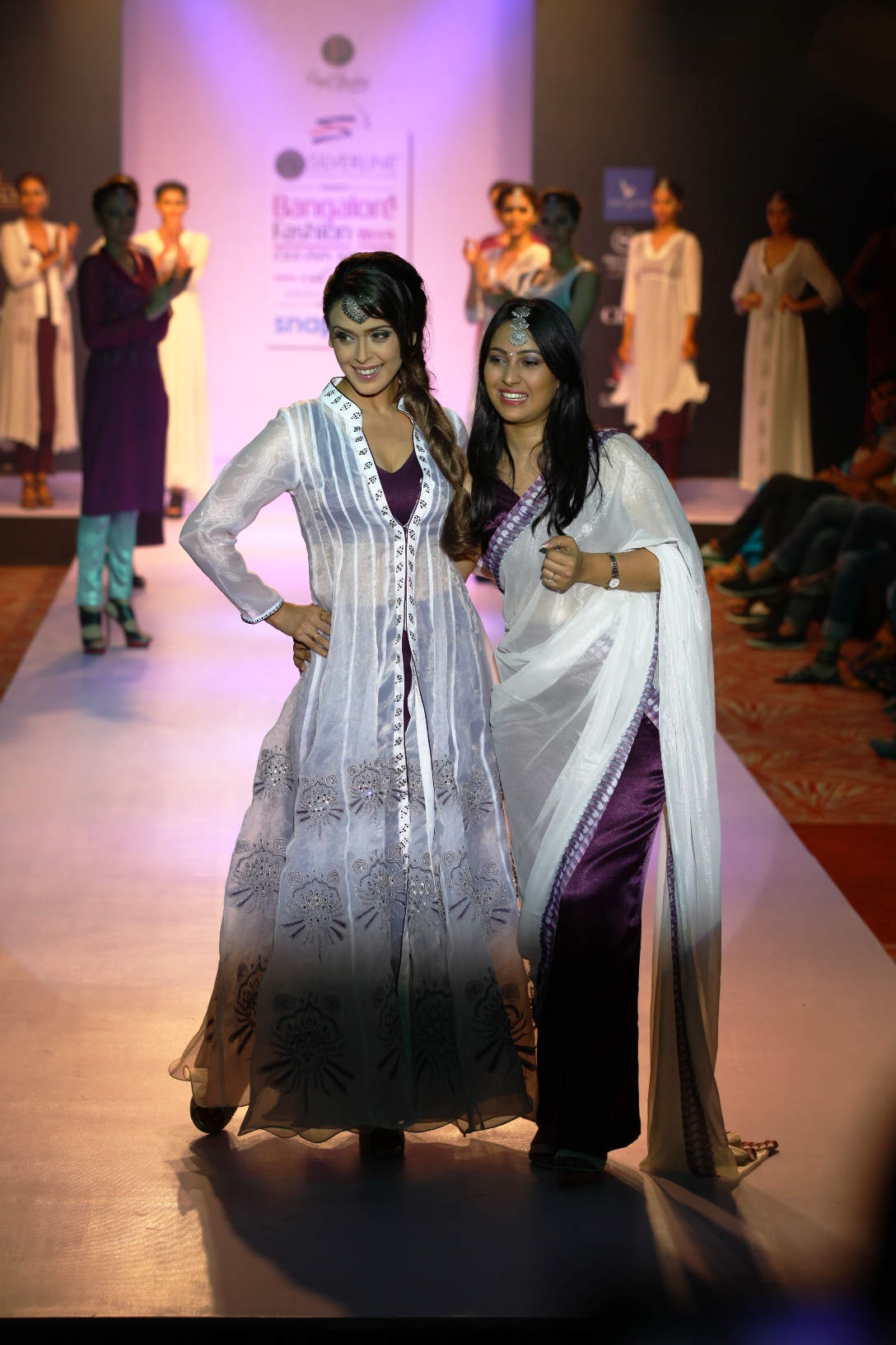 Priyal Bhardwaj with show stopper hrishita bhatt