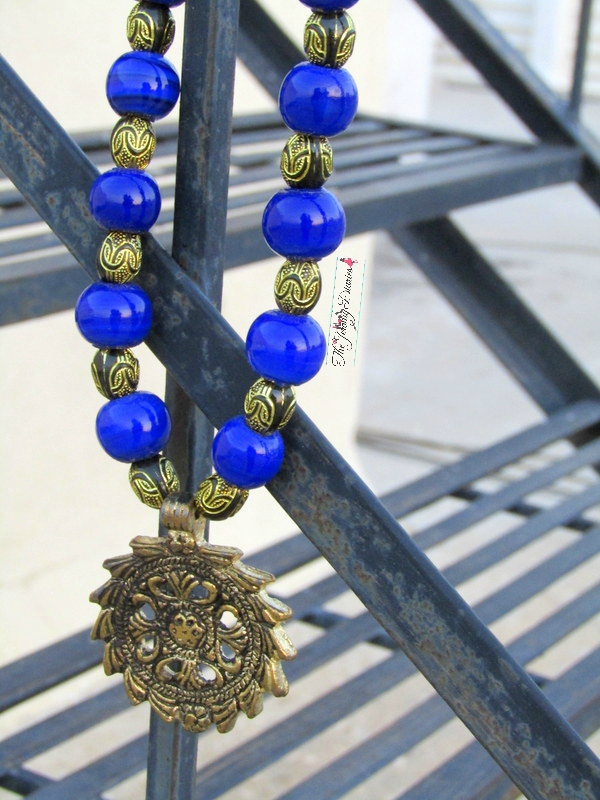 antique neckpieces statement necklaces cerulean blue beaded necklace homesake website shopping review