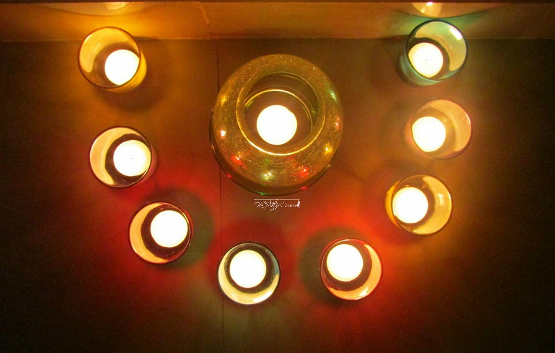 decorative glossy votive set with crackle shimmering light box homesake website review