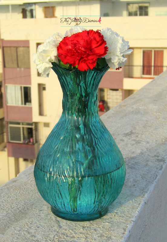 luster ribbed flower vase from online store homesake home decor