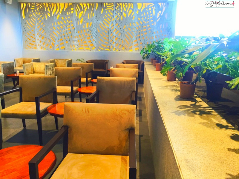 jaali or lattice at above ground level lounge international terminal